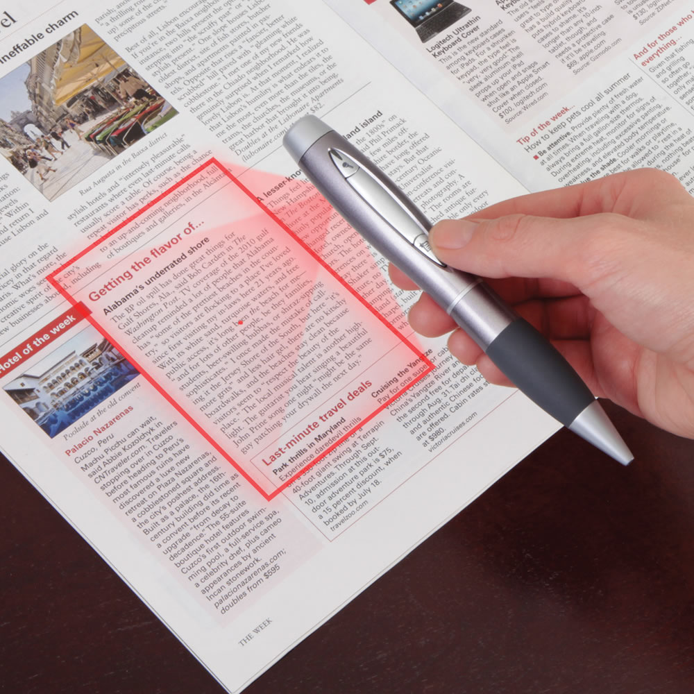 Pen-Sized Scanner Hammacher Schlemmer
